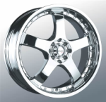 chrome rims, custom rims N-05