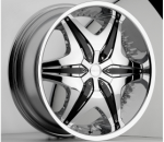 chrome rims, custom rims Big Papi Type 712