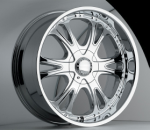 chrome rims, custom rims Corrupt Type 326
