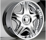 chrome rims, custom rims Sting 503