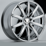 chrome rims, custom rims Urchin Type 639