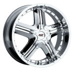 chrome rims, custom rims Type 522