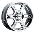 This is a beautiful wheel. When you wake up in the morning you will love to see this wheel on your vehicle. This wheel has a deep lip with the rivets to accent the wheel and with the 6 spokes exposed lugs this wheel will chop the streets hard.