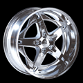This is a beautiful wheel. When you wake up in the morning you will love to see this wheel on your vehicle. This wheel has a deep lip with 5 spokes and exposed lugs this wheel will chop the streets hard.