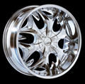 This is a beautiful wheel. When you wake up in the morning you will love to see this wheel on your vehicle. This wheel has a deep lip with the rivets to accent the wheel and with the 6 spokes this wheel will chop the streets hard.