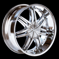 This is a beautiful wheel. When you wake up in the morning you will love to see this wheel on your vehicle. This wheel has a deep lip with 6 dual spokes this wheel will chop the streets hard.