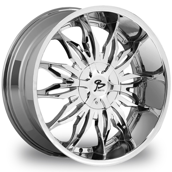 "This is the magnificent ""BONETTI 107"" rim, it has a CHROME finish, a remarkable rim, has a good elegant look to it, and a very smooth ride to it, Has a mid lip for those looking for a lil lip but not too much ""JUST ENOUGH"". Very dependable rim, does not rust or mold at all like all those other flimsy rims. One of the best wheels you can have under your vehicle, to make it look beautiful and also have that fancy look."