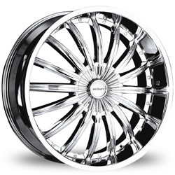 "This is the magnificent ""DIVINITY DV-18"" rim, it has a CHROME finish, a remarkable rim, has a good elegant look to it, and a very smooth ride to it, Has a mid lip for those looking for a lil lip but not too much ""JUST ENOUGH"". Very dependable rim, does not rust or mold at all like all those other flimsy rims. One of the best wheels you can have under your vehicle, to make it look beautiful and also have that cutting edge look."