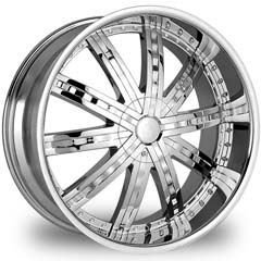 "This is the elegant ""GOLDEN-105"" rim, it has a CHROME finish, a very outstanding rim, has a good smooth look to it, and a very righteous ride to it, Has mid lip for those looking for a rim with lil lip but enough rim on it ""JUST ENOUGH"". Very dependable rim, does not rust or mold at all like all those other flimsy rims. One of the best wheels you can have under your vehicle, to make it look beautiful and also has the confident look to it."