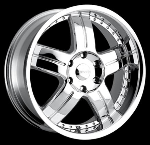 This is a beautiful wheel. When you wake up in the morning you will love to see this wheel on your vehicle. This wheel has a deep lip with the rivets to accent the wheel and with the 5 spokes and exposed lugs this wheel will chop the streets hard.