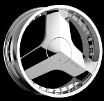 This is a beautiful wheel. When you wake up in the morning you will love to see this wheel on your vehicle. This wheel has a mid lip with the rivets to accent the wheel and with the 3 spokes this wheel will chop the streets hard.