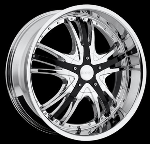 This is a beautiful wheel. When you wake up in the morning you will love to see this wheel on your vehicle. This wheel has a deep lip with the rivets to accent the wheel and with the 5 dual spokes with black inserts this wheel will chop the streets hard.