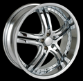 This is a beautiful wheel. When you wake up in the morning you will love to see this wheel on your vehicle. This wheel has a deep lip with the rivets to accent the wheel and with the 5 dual spokes this wheel will chop the streets hard.