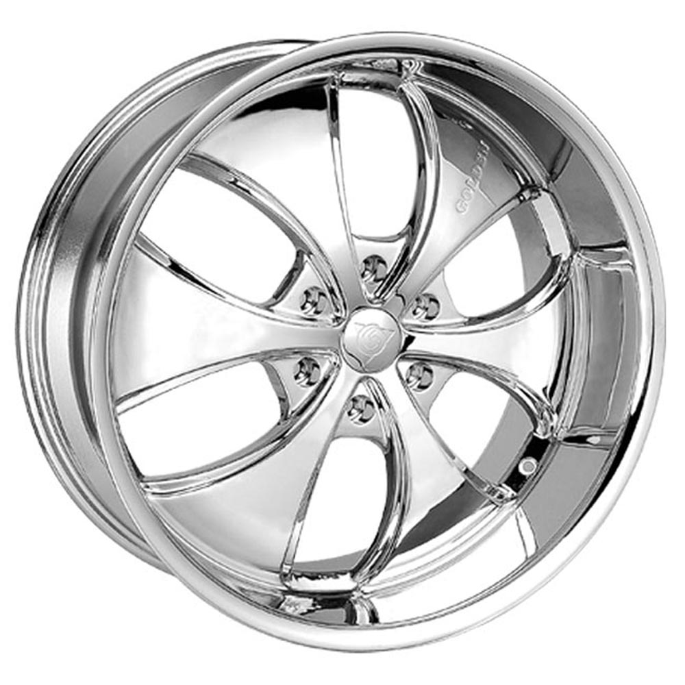This is a beautiful wheel. When you wake up in the morning you will love to see this wheel on your vehicle. This wheel has a deep lip with the 6 spokes and exposed lugs this wheel will chop the streets hard.