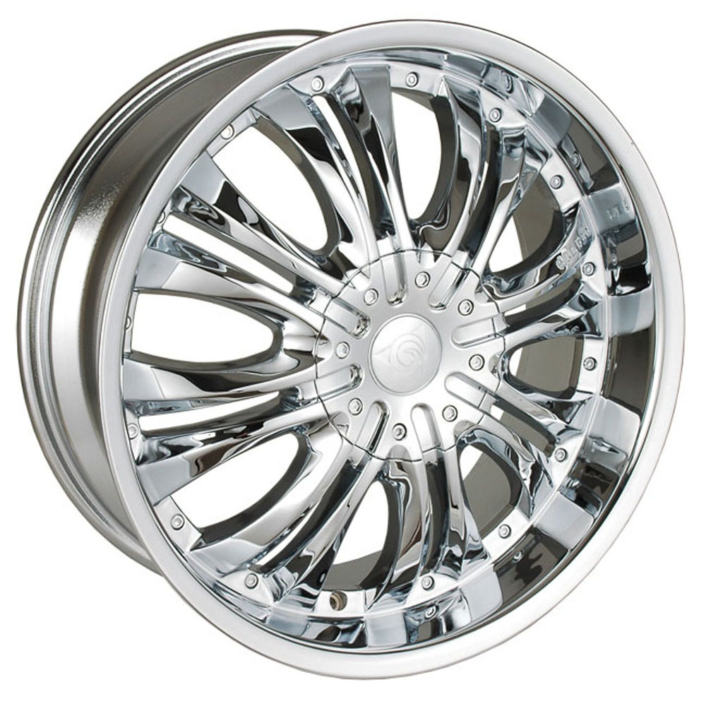 This is a beautiful wheel. When you wake up in the morning you will love to see this wheel on your vehicle. This wheel has a deep lip with the rivets to accent the wheel and with the 8 dual spokes this wheel will chop the streets hard.