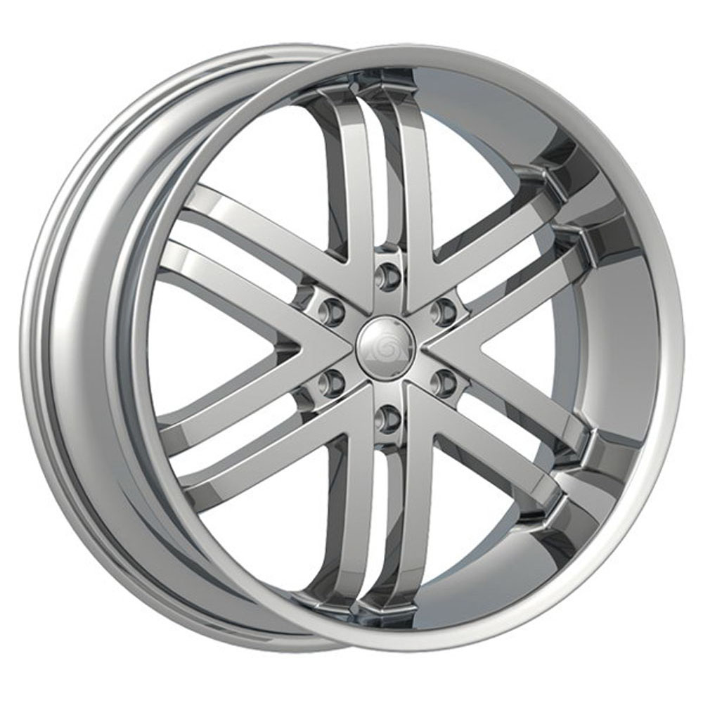 This is a beautiful wheel. When you wake up in the morning you will love to see this wheel on your vehicle. This wheel has a deep lip with the 6 dual spokes and exposed lugs this wheel will chop the streets hard.