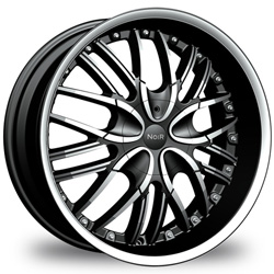 "This is the mind-blowing ""NOIR- ONIX"" rim, it has a BLACK/W CHROME finish, a very outstanding rim, has a good smooth look to it, and a very righteous ride to it, Has mid lip for those looking for a rim with lil lip but enough rim on it ""JUST ENOUGH"". Very dependable rim, does not rust or mold at all like all those other flimsy rims. One of the best wheels you can have under your vehicle, to make it look beautiful and also has the powerful look to it."
