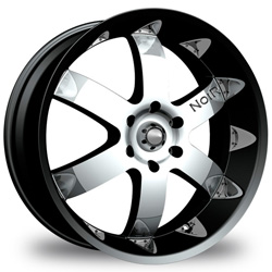 "This is the mind-blowing ""NOIR VENDETTA"" rim, it has a BLACK/W CHROME finish, a very outstanding rim, has a good smooth look to it, and a very righteous ride to it, Has DEEP lip for those looking for a rim with MORE lip but LESSER rim on it. Very dependable rim, does not rust or mold at all like all those other flimsy rims. One of the best wheels you can have under your vehicle, to make it look beautiful and also has the powerful look to it."