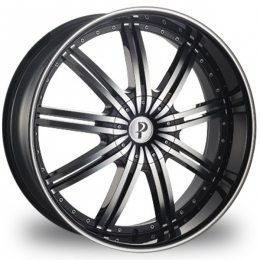 "This is the mind-blowing ""PHINO 118"" rim, it has a BLACK/W CHROME finish, a very outstanding rim, has a good smooth look to it, and a very righteous ride to it, Has mid lip for those looking for a rim with lil lip but enough rim on it ""JUST ENOUGH"". Very dependable rim, does not rust or mold at all like all those other flimsy rims. One of the best wheels you can have under your vehicle, to make it look beautiful and also has the powerful look to it."
