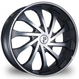 "This is the mind blowing ""PHINO 138"" rim, it has a BLACK/W CHROME finish, a very outstanding rim, has a good smooth look to it, and a very righteous ride to it, Has mid lip for those looking for a rim with lil lip but enough rim on it ""JUST ENOUGH"". Very dependable rim, does not rust or mold at all like all those other flimsy rims. One of the best wheels you can have under your vehicle, to make it look beautiful and also has the powerful look to it."