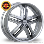 "This is the mind-blowing ""PINANCLE HALO"" rim, it has a CHROME/W BLACK finish, a very outstanding rim, has a good smooth look to it, and a very righteous ride to it, Has mid lip for those looking for a rim with lil lip but enough rim on it ""JUST ENOUGH"". Very dependable rim, does not rust or mold at all like all those other flimsy rims. One of the best wheels you can have under your vehicle, to make it look beautiful and also has the powerful look to it."