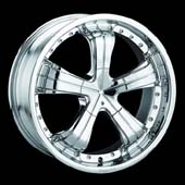 Pinnacle Blitz rims are available 20x8.5. Chrome rims high quality