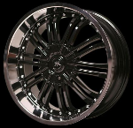 This wheel is fabulous, made for almost any make and model vehicle. The 10 black dual spokes wheel adds a lot of style to the look of your vehicle. When you ride the street you will turn heads with this wheel.
