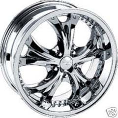 "This is the unique ""TYFUN 705"" rim, it has a CHROME finish , a very outstanding rim, has a good smooth look to it, and a very righteous ride to it, Has mid lip for those looking for a rim with a lil lip but enough lip and enough rim. Very dependable rim, does not rust or mold at all like all those other flimsy rims. One of the best wheels you can have under your vehicle, to make it look beautiful and also has the CONFIDENT look to it."