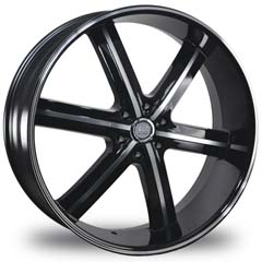 "This is the astonishing ""U2 55"" rim, it has a BLACK/W CHROME finish , a very outstanding rim, has a good smooth look to it, and a very righteous ride to it, Has mid lip for those looking for a rim with a lil lip but enough lip and enough rim. Very dependable rim, does not rust or mold at all like all those other flimsy rims. One of the best wheels you can have under your vehicle, to make it look beautiful and also has the CONFIDENT look to it."