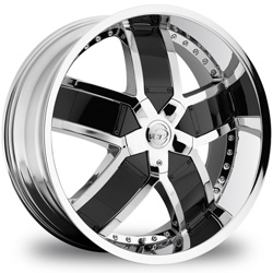 "This is the one of a kind ""VCT LOMBARDI"" rim, it has a CHROME/W BLACK finish , a very outstanding rim, has a good smooth look to it, and a very righteous ride to it, Has mid lip for those looking for a rim with a lil lip but enough lip and enough rim. Very dependable rim, does not rust or mold at all like all those other flimsy rims. One of the best wheels you can have under your vehicle, to make it look beautiful and also has the CONFIDENT look to it."