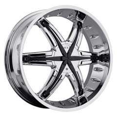 "This is the  genuine ""VCT PALADINO"" rim, it has a CHROME/W BLACK finish , a very outstanding rim, has a good smooth look to it, and a very righteous ride to it, Has mid lip for those looking for a rim with a lil lip but enough lip and enough rim. Very dependable rim, does not rust or mold at all like all those other flimsy rims. One of the best wheels you can have under your vehicle, to make it look beautiful and also has the one of a kind look to it."