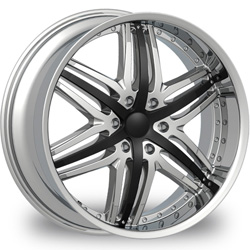 "This is the  genuine ""VELOCITY 810"" rim, it has a CHROME/W BLACK finish , a very outstanding rim, has a good smooth look to it, and a very righteous ride to it, Has mid lip for those looking for a rim with a lil lip but enough lip and enough rim. Very dependable rim, does not rust or mold at all like all those other flimsy rims. One of the best wheels you can have under your vehicle, to make it look beautiful and also has the one of a kind look to it."