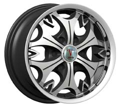 "This is the  genuine ""VELOCITY 845"" rim, it has a BLACK/W CHROME finish , a very outstanding rim, has a good smooth look to it, and a very righteous ride to it, Has mid lip for those looking for a rim with a lil lip but enough lip and enough rim. Very dependable rim, does not rust or mold at all like all those other flimsy rims. One of the best wheels you can have under your vehicle, to make it look beautiful and also has the one of a kind look to it."