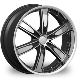 "This is the  genuine ""VELOCITY 850"" rim, it has a BLACK/W CHROME finish , a very outstanding rim, has a good smooth look to it, and a very righteous ride to it, Has mid lip for those looking for a rim with a lil lip but enough lip and enough rim. Very dependable rim, does not rust or mold at all like all those other flimsy rims. One of the best wheels you can have under your vehicle, to make it look beautiful and also has the one of a kind look to it."